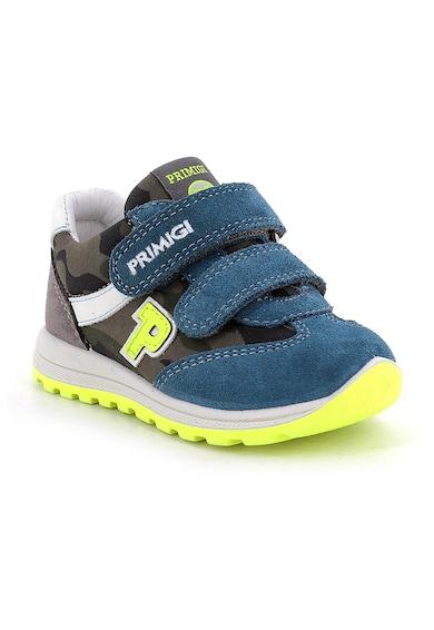 Primigi Pantofi sport cu garnituri de piele intoarsa si inchidere cu velcro Baieti