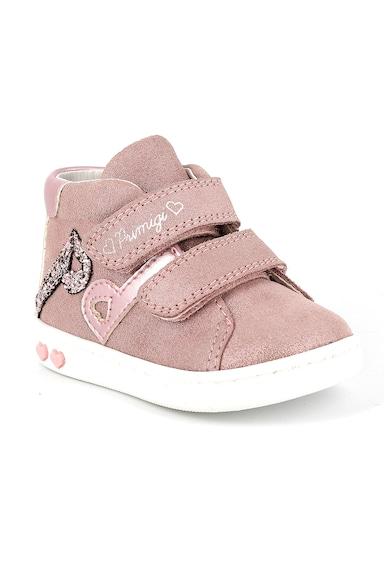 Primigi Pantofi sport cu velcro si aspect stralucitor Fete