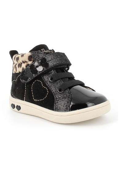 Primigi Pantofi sport cu velcro si detalii inima cusute Fete