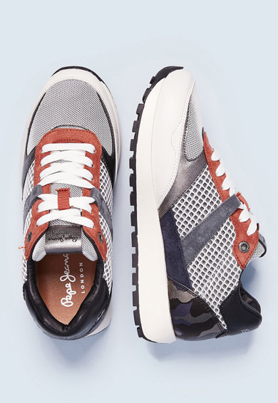 Pepe Jeans London Pantofi sport cu insertii din piele intoarsa Dean Femei
