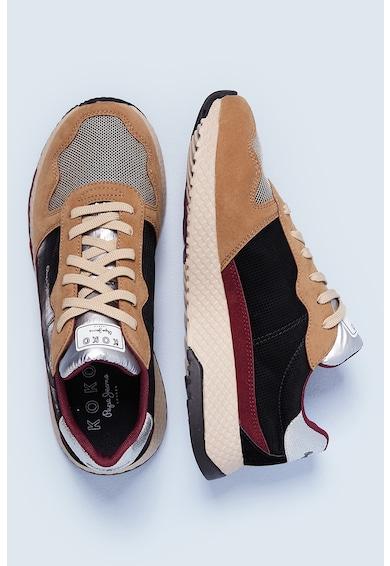Pepe Jeans London Pantofi sport cu insertii din piele ecologica Femei