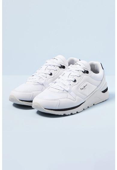 Pepe Jeans London Pantofi sport de piele ecologica si plasa X20 Barbati