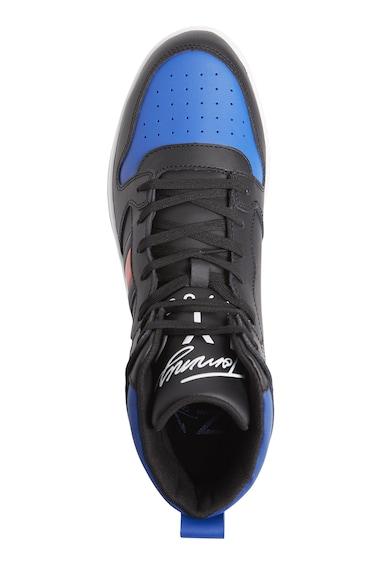 Tommy Jeans Pantofi sport high-top cu insertii de piele ecologica Signature Barbati