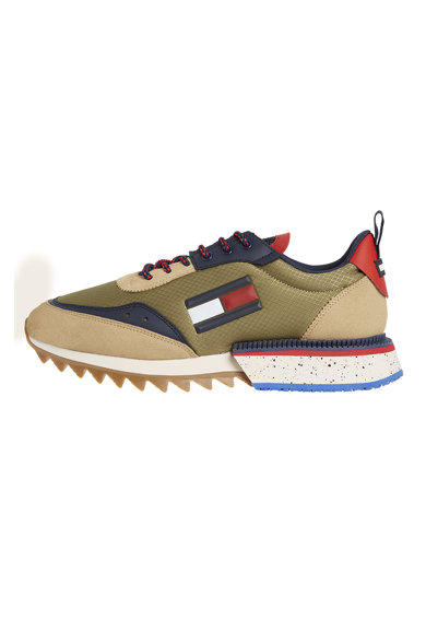Tommy Jeans Pantofi sport cu talpa striata si aplicatie logo Barbati