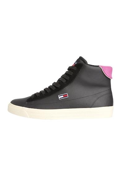 Tommy Jeans Pantofi sport mid-high din piele cu garnituri din piele ecologica Femei