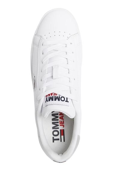 Tommy Jeans Pantofi sport de piele cu garnitura cu irizatii Femei