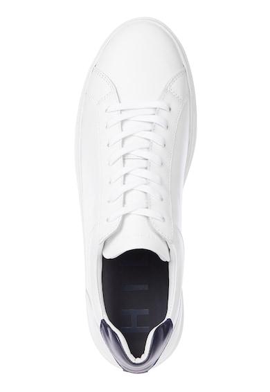 Tommy Hilfiger Pantofi sport low-top din piele cu garnitura contrastanta pe toc Barbati