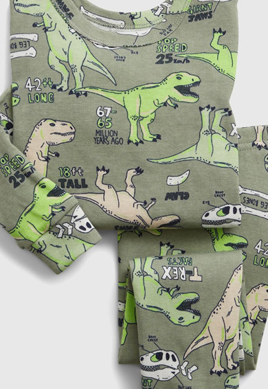 GAP Pijama de bumbac organic cu imprimeu cu dinozauri Baieti