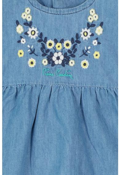 Pierre Cardin Baby Set de colanti scurti si bluza din material chambray Fete