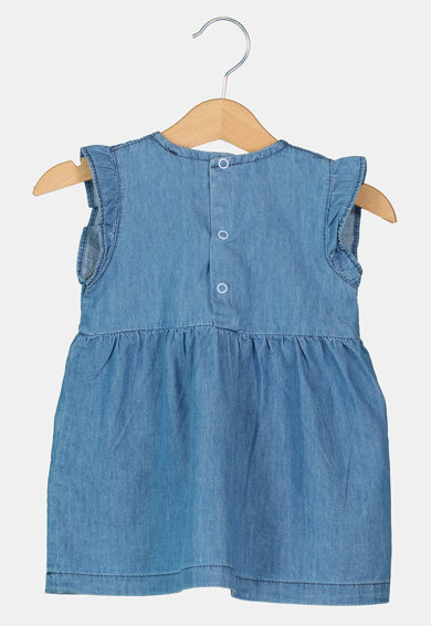 Pierre Cardin Baby Rochie din material chambray cu broderie florala Fete