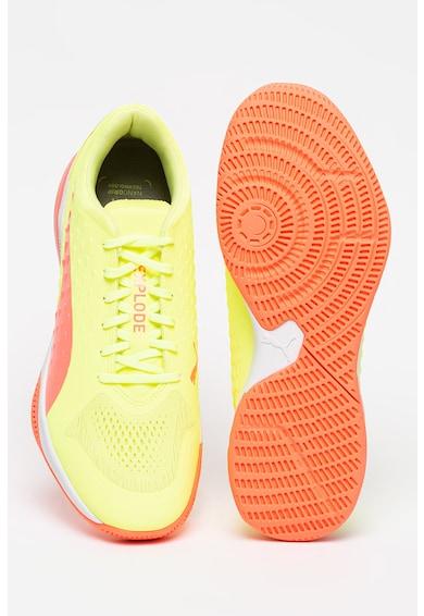 Puma Pantofi de piele ecologica si material textil, pentru handbal Explode 1 Barbati