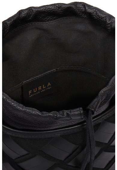 Furla Geanta bucket din piele cu insertii din material textil Lipari Femei