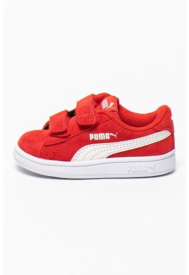 Puma Tépőzáras nyersbőr sneaker logós részlettel Lány