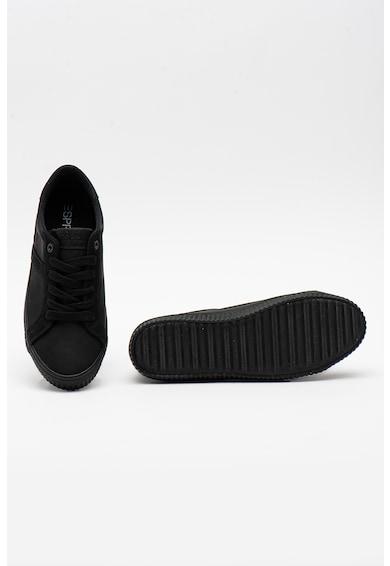 Esprit Pantofi sport de piele intoarsa ecologica cu model colorblock Femei