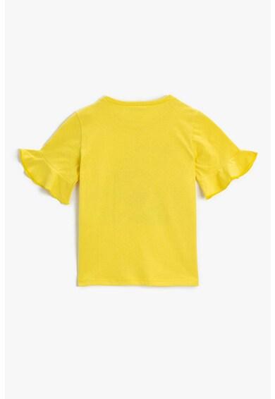 KOTON Tricou de bumbac cu imprimeu grafic Fete