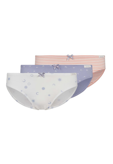 Skiny Set de chiloti 3 perechi hipster cu imprimeu lavanda/roz Fete