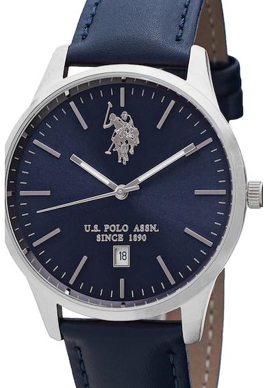U.S. Polo Assn. Ceas cu o curea din piele Barbati