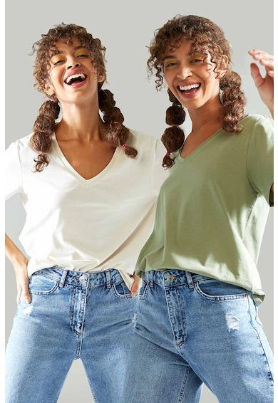DeFacto Set de tricouri cu decolteu in V - 2 piese Femei