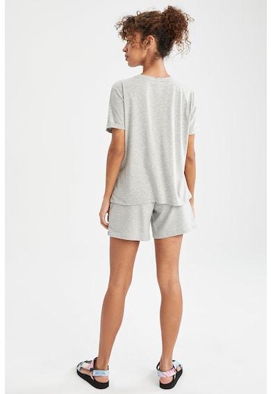 DeFacto Set de tricou si pantaloni scurti relaxed fit Femei