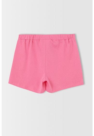 DeFacto Pijama scurta din bumbac cu imprimeu Fete