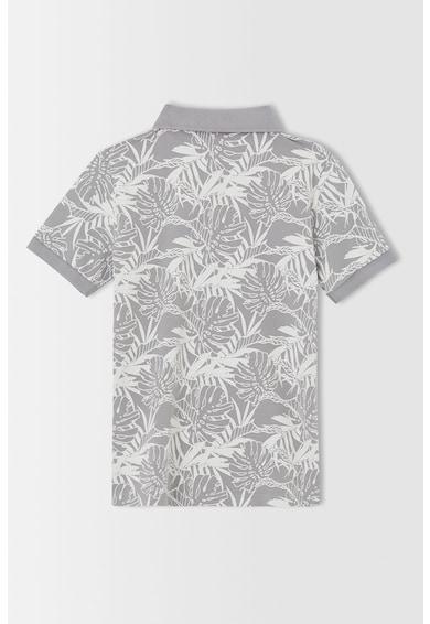 DeFacto Tricou polo cu imprimeu tropical si material pique Baieti