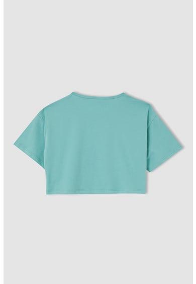 DeFacto Set de tricouri crop - 2 piese Verde menta/Gri deschis melage Fete