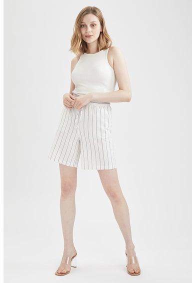 DeFacto Pantaloni scurti cu talie inalta si model in dungi Femei