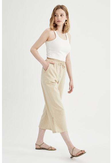 DeFacto Pantaloni capri cu talie elastica Femei