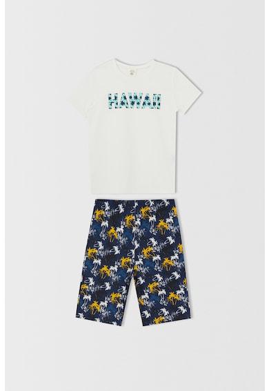 DeFacto Pijama scurta din bumbac cu imprimeu Baieti