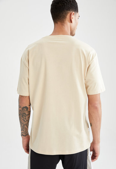 DeFacto Tricou supradimensionat cu imprimeu logo Barbati