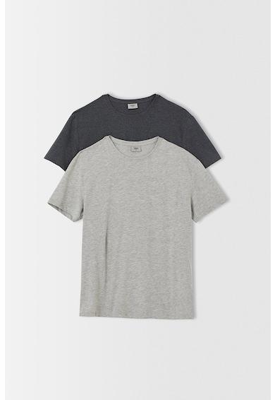 DeFacto Set de tricouri cu decolteu la baza gatului - 2 piese Barbati