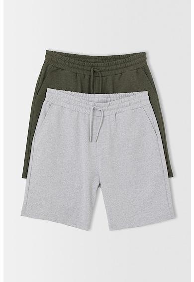 DeFacto Set de pantaloni scurti lejeri - 2 perechi Barbati