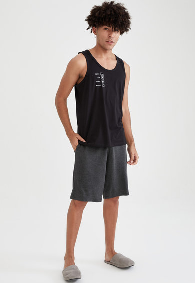 DeFacto Pijama scurta regular fit din jerseu Barbati