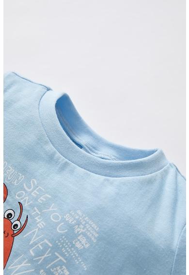 DeFacto Set de tricou si pantaloni scurti cu imprimeu grafic, baieti, 2 piese Baieti