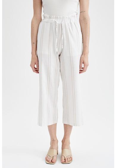 DeFacto Pantaloni capri din amestec de bumbac si in cu croiala ampla Femei