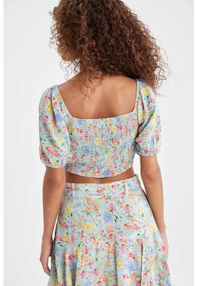 DeFacto Bluza crop cu model floral Femei