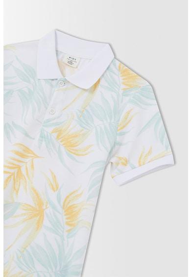 DeFacto Tricou polo din material pique cu imprimeu tropical Baieti