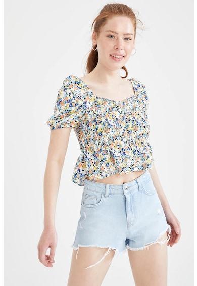 DeFacto Bluza crop cu imprimeu floral Femei
