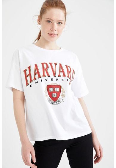 DeFacto Tricou de bumbac cu imprimeu grafic Femei