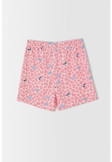 DeFacto Set de pantaloni de pijama din bumbac, fete, 2 piese Fete