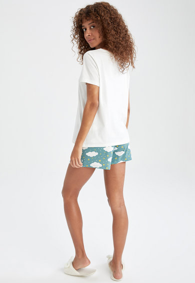 DeFacto Pijama scurta relaxed fit Femei