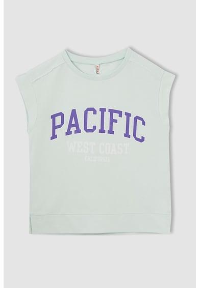 DeFacto Set de tricou si pantaloni scurti cu imprimeu Fete