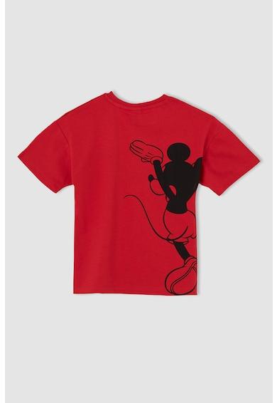 DeFacto Tricou cu decolteu la baza gatului si imprimeu Mickey Mouse Baieti