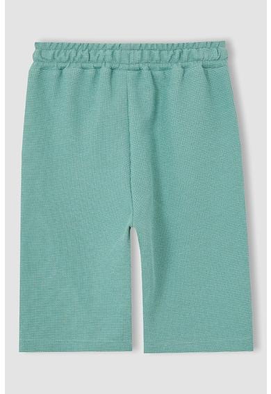 DeFacto Pantaloni scurti texturati din amestec de bumbac Baieti
