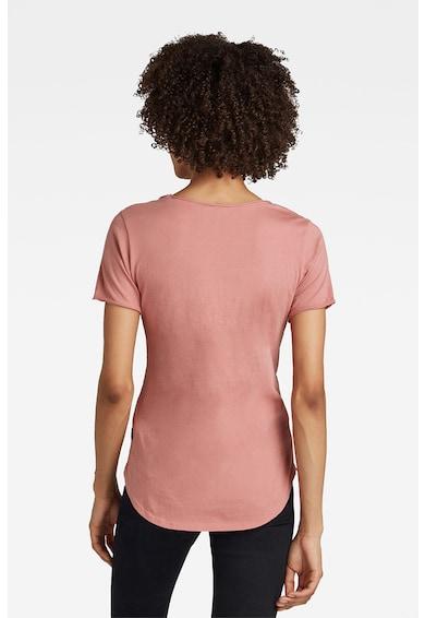 G-Star RAW Tricou de bumbac organic cu terminatie rotunda Femei