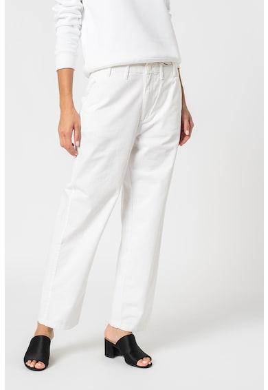 Tommy Jeans Pantaloni drepti cu talie inalta si logo brodat Femei