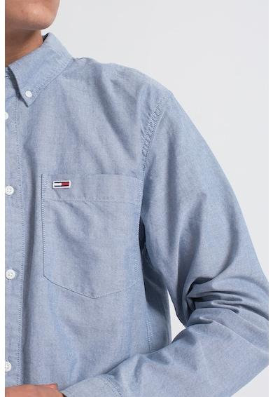 Tommy Jeans Camasa de bumbac cu logo brodat Barbati