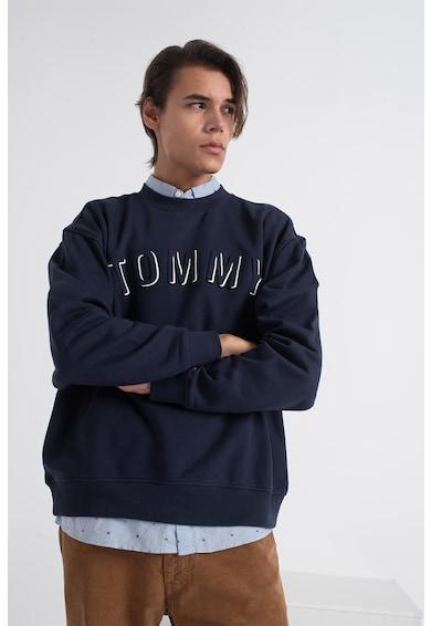 Tommy Jeans Bluza sport de bumbac cu decolteu la baza gatului Barbati