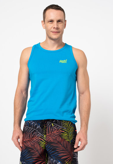 SUPERDRY Neon Lite pamuttrikó hímzett logóval férfi