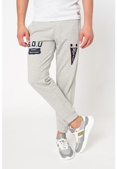 SUPERDRY Pantaloni sport slim fit Collegiate State Barbati